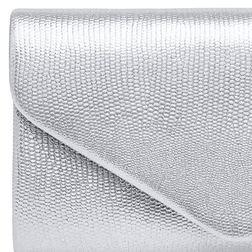 Piel Bolso Plateado Mujer clutch Estampado Para Caspar Mano Ta521 De Serpiente gxC8FR