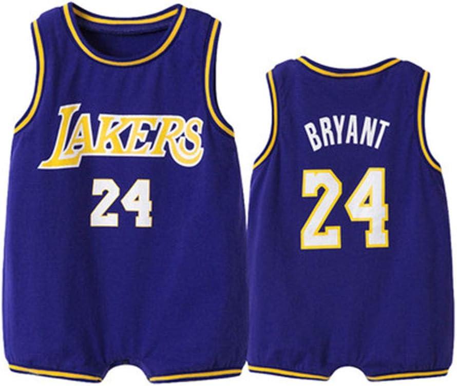Baby Sommer Strampler YZDD Baby Lakers # 24 Kobe Basketball Trikot /ärmelloser Baumwoll Overall