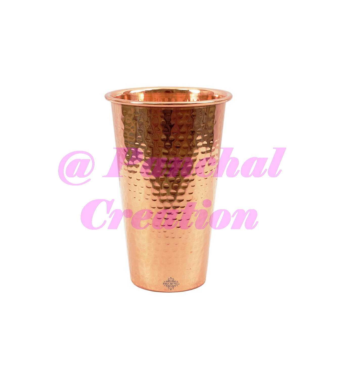 Amazon.com: Hammered Big Copper Glass Tumbler, Drinkware ...