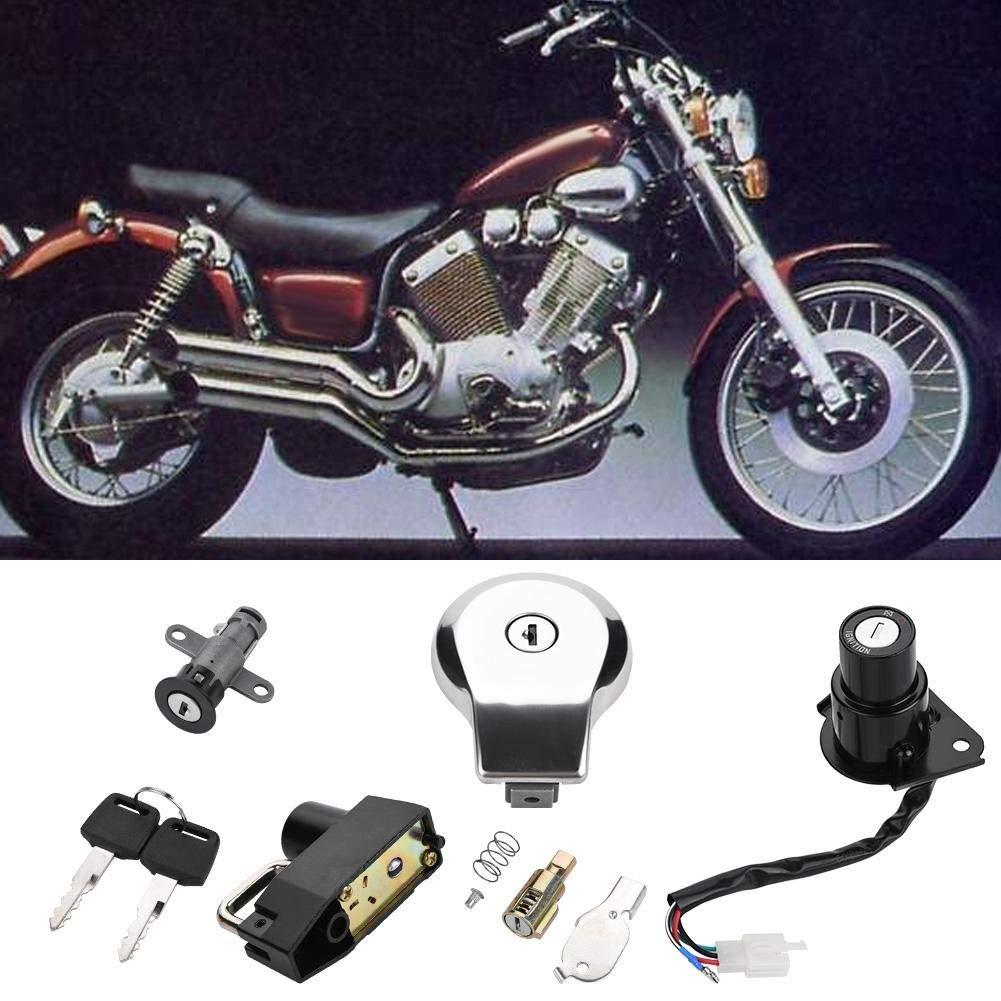 Interruttore di accensione 1 PC di interruttore di accensione del motociclo tappo del serbatoio carburante Chiavi di blocco sedile per Yamaha Virago XV535 XV250 XV125.