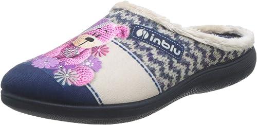 INBLU Epoca Pantofole Aperte sul Retro Donna