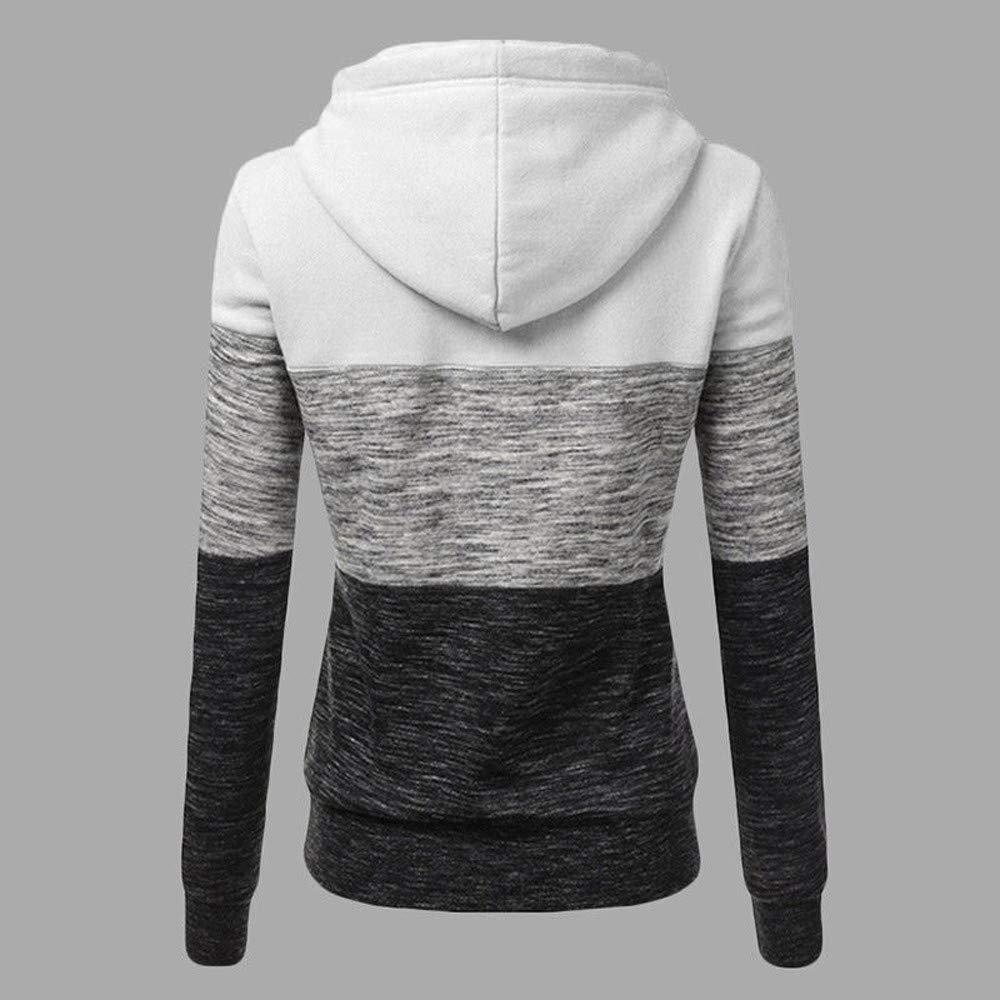 Red,XL JFLYOU Sales Fashion Ladys Casual Hoodies Sweatshirt Patchwork Ladies Hooded Blouse Pullove Women Blouse
