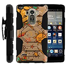LG Stylo Case, Belt Clip, Full Protection Hybrid Armor Reloaded w/ Kickstand - Artistic Tribal Patterns - for LG G Stylo, G4 Stylus LS770, H631, MS631 by MINITURTLE - Smiling Sun