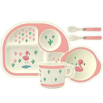 Baby Kids Eating Bowl Spoon Fork Drinking Cup Feeding Plastic Tableware Sets UK
