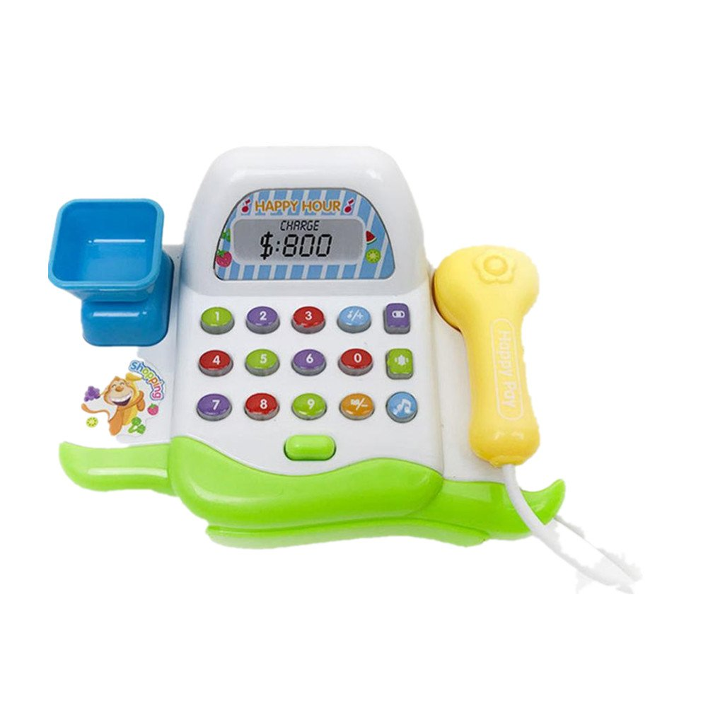 Letong Interesting Pretend Play Electronic Toy Kid Supermarket Cash Register Realistic Actions (Multicolor)