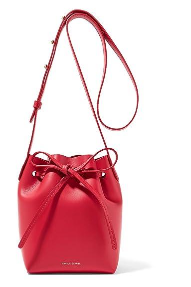 1d8fe819ba5d Amazon | (マンサーガブリエル) Mansur Gavriel Women`s Mini Mini leather bucket bag  Red leather Calf レディースミニレザーバケットバッグレッドレザーカーフ(並行 ...