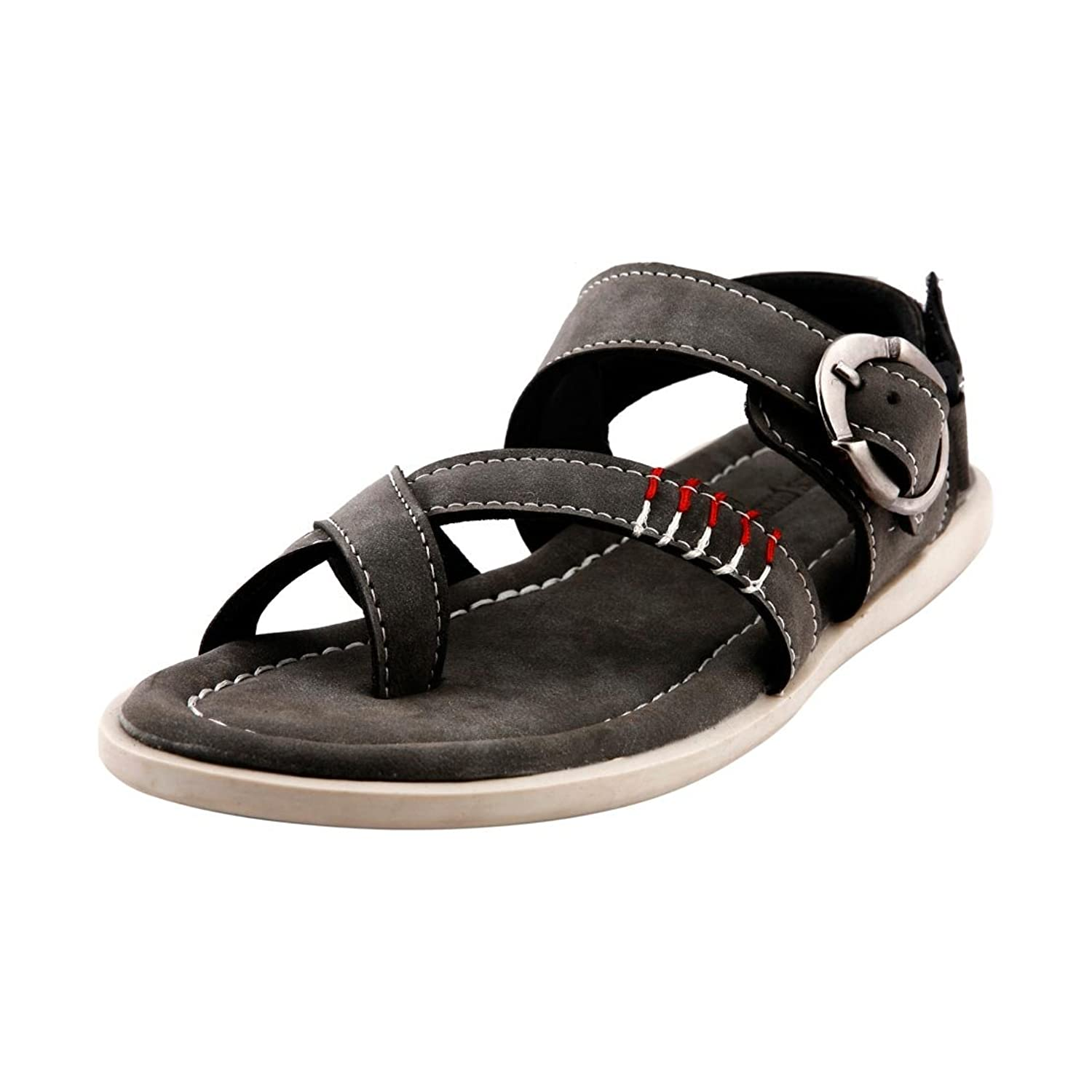 Bacca Bucci Men's Bbme6008I Grey Leather Casual Sandals