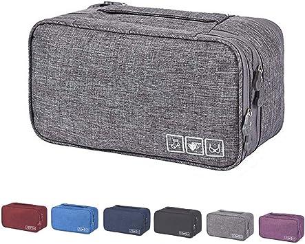 Bidiri - Bolsa de almacenamiento multifunción para sujetador de viaje, bolsa de almacenamiento para guardar sujetador, calcetines, accesorios cosméticos, estuche de almacenamiento para hombres y mujeres: Amazon.es: Equipaje