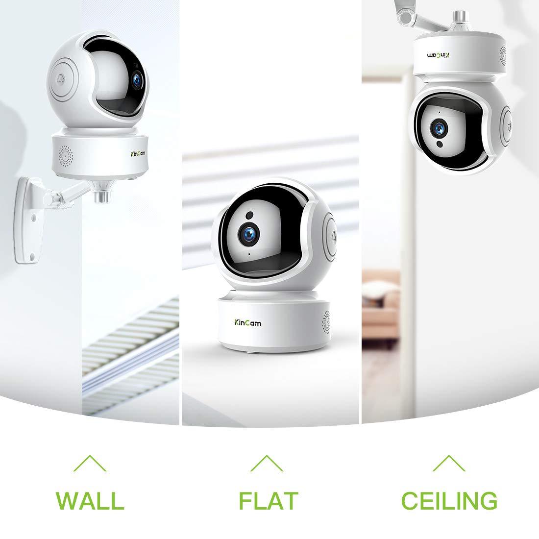 Vivienda, kincam 1080P HD WiFi cámaras de Seguridad interferencias de cámara con detección de Movimiento, visión Nocturna, zweiw egaudio Ideal para iOS, ...