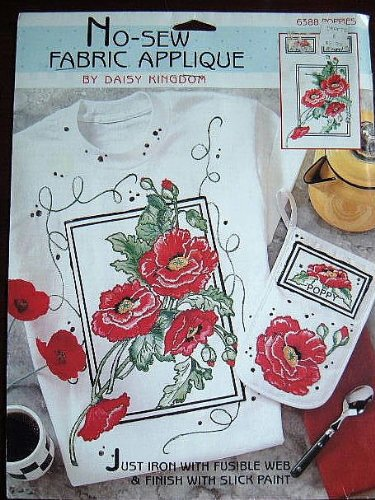 Daisy Kingdom - No-Sew Fabric Applicque (Poppies) for sale  Delivered anywhere in USA