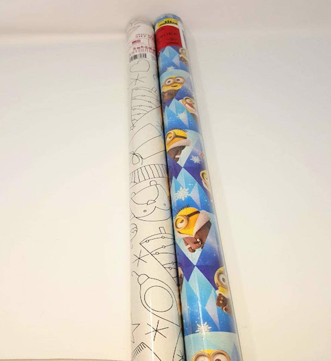 Wrapping Paper Roll Christmas 40 Sq Ft Minion Despicable Me Minions