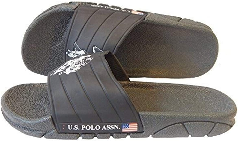 U.S. POLO ASSN. Chaqueta de Premium Slide Sandalias Chanclas ...