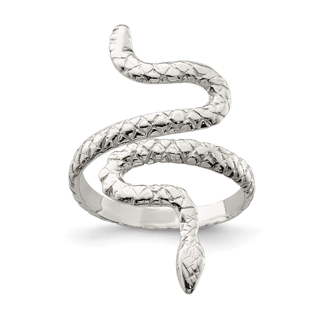 ICE CARATS 925 Sterling Silver Snake Band Ring Size 8.00 Animal Fine Jewelry Ideal Gifts For Women Gift Set From Heart