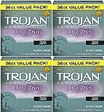 Trojan Condom Sensitivity Ultra YBwjG Thin Lubricated, 36 Count (Pack of 4) cROrV