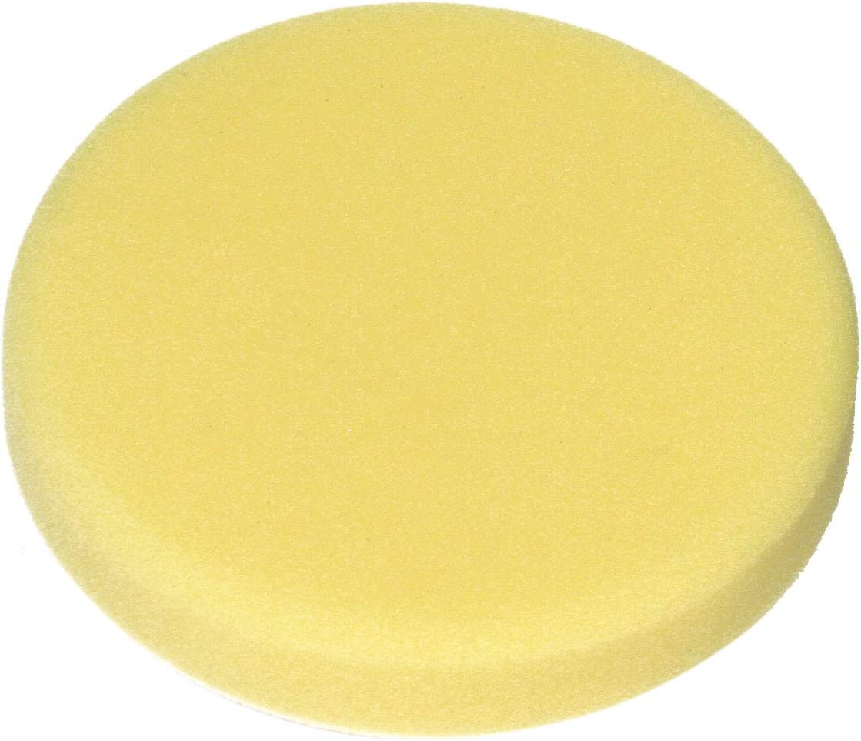 Dino Polierschwamm 150 mm Polierpad medium für Polierteller mit Klett gelb