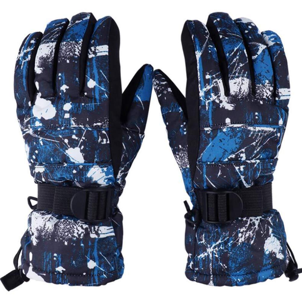 Zaptex Winter Skiing Gloves Waterproof Windproof Outdoor Sport Warm Gloves for Women/Men (X-Large, A Men)