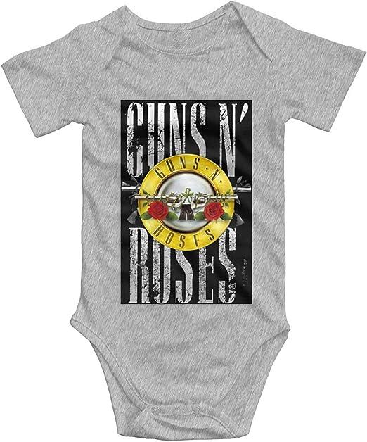 Guns N Roses GNR Logo Baby Boys Girls Onesies Body de Manga Corta: Amazon.es: Ropa y accesorios