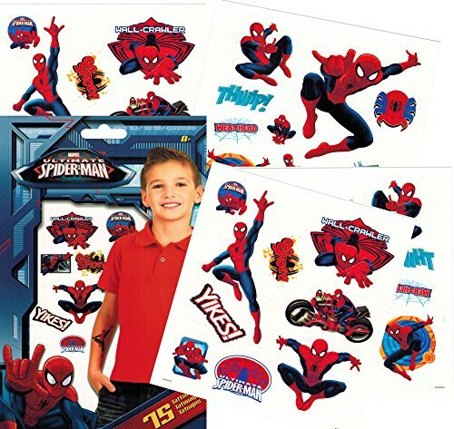 Marvel Spiderman Temporary Tattoos - Pack of (Spiderman Party Favors)