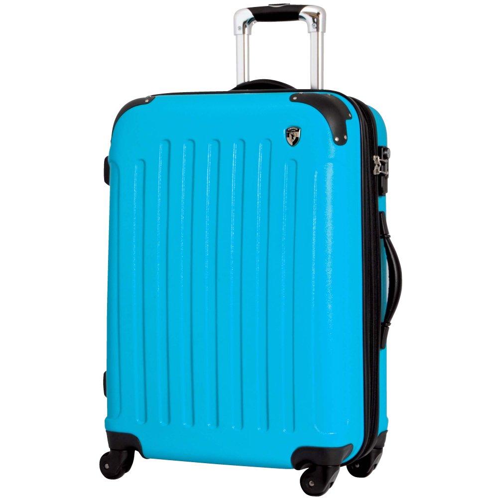 [グリフィンランド]_Griffinland TSAロック搭載 スーツケース 超軽量 マット加工 newFK10371 ファスナー開閉式 B078B5V6V3 MS型 +【名前刻印】|ターコイズ ターコイズ MS型 +【名前刻印】