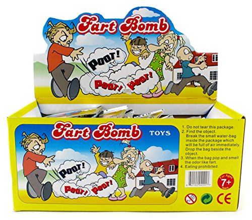 (72 Pack Individual Fart Bomb Bags Prank Joke Stinky Smelly Novelty)