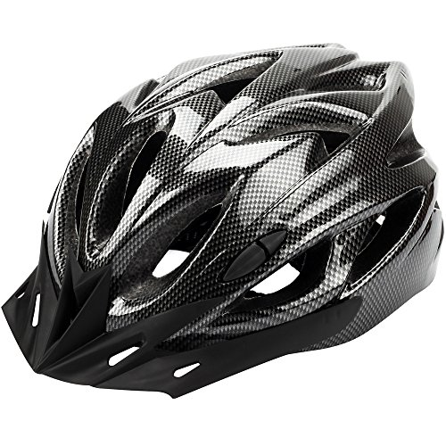 Zacro-Cycle-Helmet-Lightweight-Bike-Helmet-with-Removable-Visor-and-Liner-Adjustable-Thrasher-Adjustable-Thrasher-Adult-Cycling-HelmetGrey
