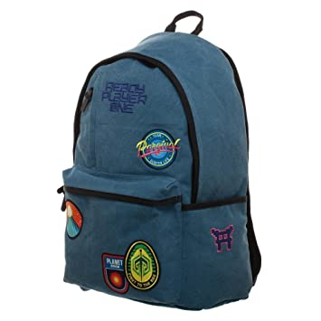 Amazon.com | Soft Blue Patches Knapsack, Ready Player One Character Inspired Backpack with Gunter Patches, Gamer Life Gifts | Casual Daypacks