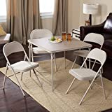 Meco Sudden Comfort Deluxe Single Padded Seat and Back-5 Piece Card Table Set - Lace