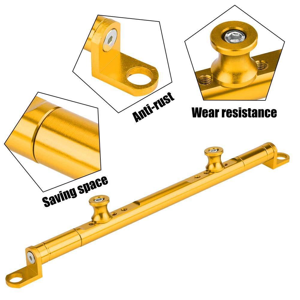 KIMISS CNC Manubrio per moto in alluminio Barra di bilanciamento Barra di rinforzo dorato