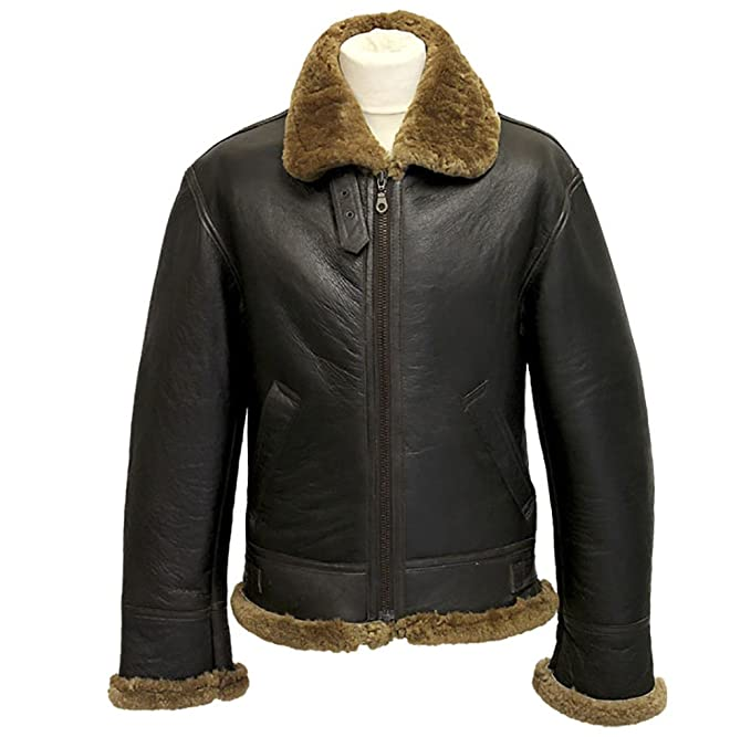 uk availability ca736 86469 Infinity Brown Uomo Air Force Aviator Thick shearling di ...