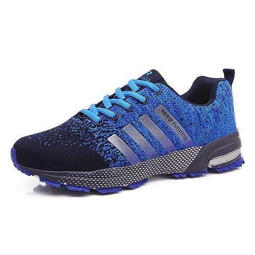Hombre Mujer Zapatos de Correr Gimnasio Sneakers Casual Transpirables Ligero Running Zapatillas de Deporte para Gimnasia y Senderismo: Amazon.es: Zapatos y ...