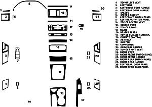 Rvinyl Rdash Dash Kit Decal Trim for Mercedes-Benz GLK-Class 2010-2012 - Wood Grain (Zebrano Mahogany)