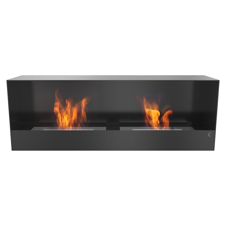 Farbe: Schwarz und Wei/ß T/ÜV gepr/üft Wei/ß Ethanol Kamin Gelkamin Palermo Tischkamin mit sicherem Brennsystem