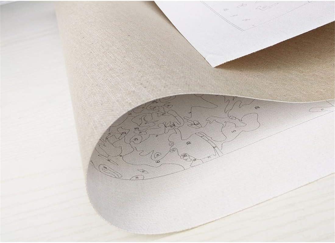 Alittle Dipingere con i Numeri Kit con pennelli e pigmento Acrilico Cielo Stellato 40 x 50cm, Senza Telaio