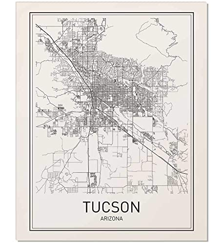 image regarding Printable Map of Tucson Az identified as Tucson Poster, Map of Tucson, Tucson Map, Town Map Posters, Innovative Map Artwork, Metropolis Prints, Tucson Artwork, Lower Print, Arizona Poster, Town Poster, Town