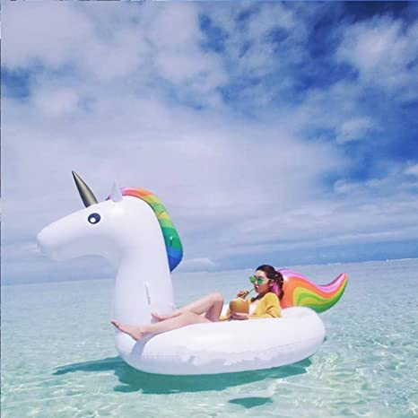 Unicornio hinchable piscina