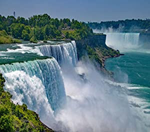 5D DIY Diamond Painting Kits Niagara Falls from The United States Side Full Drill Painting Arts Craft Canvas for Home Wall Decor Full Drill Cross Stitch Gift 16X20 Inch