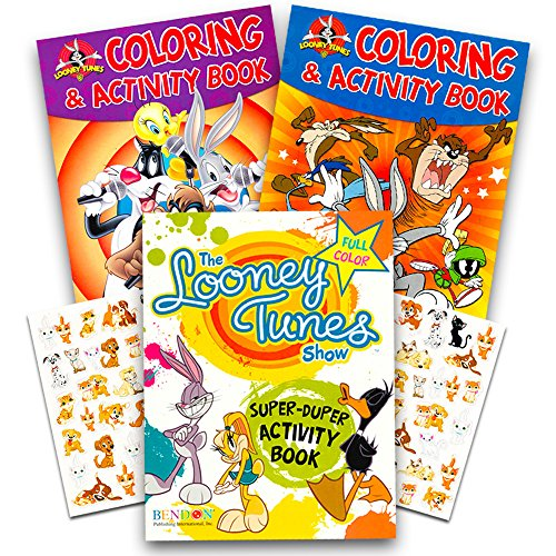 Looney Tunes Party Supplies (Looney Tunes Ultimate Coloring and Activity Book Set -- 3 Looney Tunes Books for Kids with Stickers (Party)