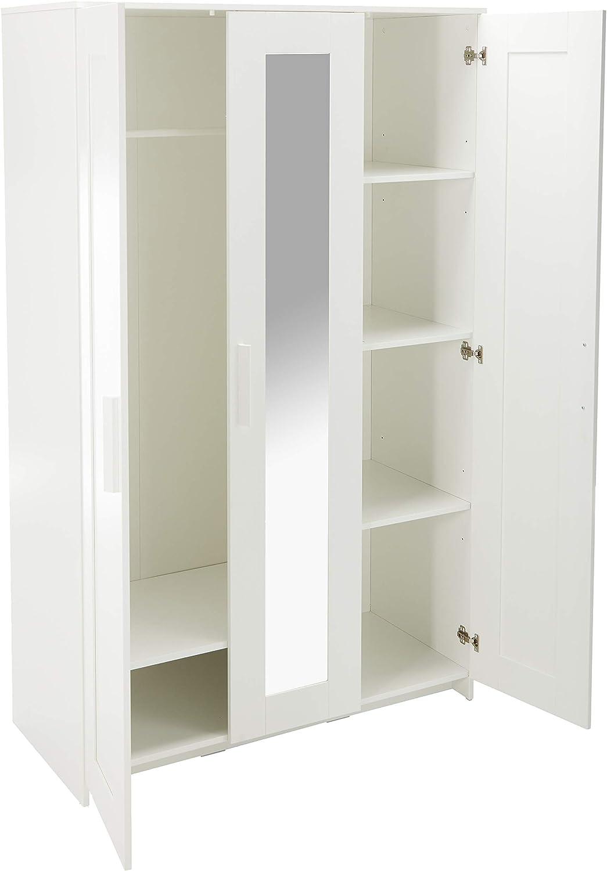 Brimnes Armario con 3 puertas blanco: Amazon.es: Hogar