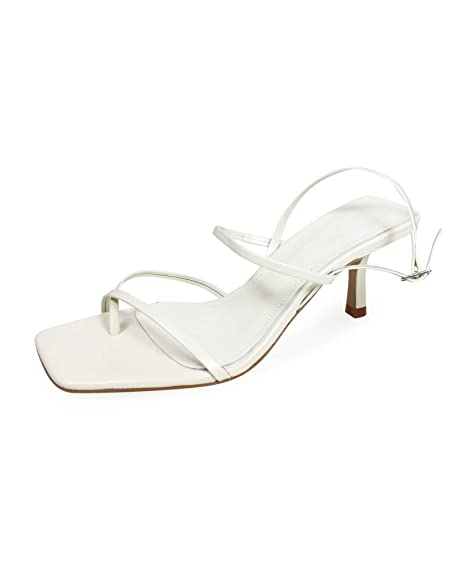 46ec5c9f495 Zara Women s Mid-Heel Strappy Leather Sandals 2341 001  Amazon.co.uk ...