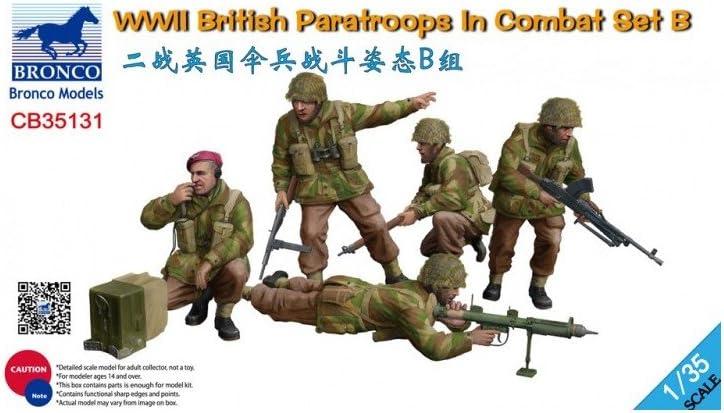 Unbekannt Bronco Models CB35131/Model Assembly Kit WWII British Paratroops in Combat Set B