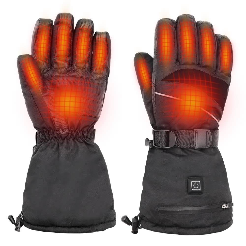 UooMoo Electric Heated Gloves for Men and Women [Rechargeable Battery Included], Winter Hand Warmer for Outdoor Cycling Skiing Hiking, 3 Levels Temperature Control by UooMoo