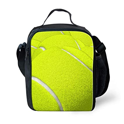 7e6c8edecca2 Coloranimal Tennis Ball Pattern Reusable Thermal Insulated Picnic Lunch  Tote Bag Keep Food Hot/Cold Portable Lunchbox Handbag for Kids Child