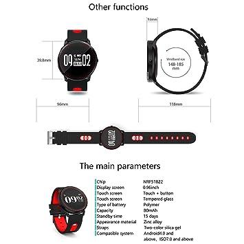 GUBENM Pulsera Inteligente CF007 Fitness Tracker Bluetooth 4.0 ...