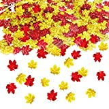 thanksgiving decorating ideas Thanksgiving Confetti | Maple Leaves Confetti | Thanksgiving Table Decorations | Gold Red Color