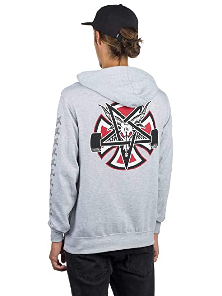 Independent Sudadera Capucha Thrasher Pentagram Cross Gris S (Small)