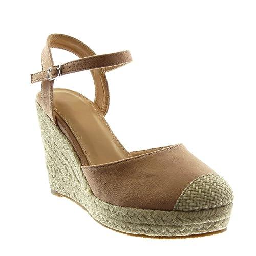 Rosa 37 EU Angkorly Scarpe Moda Sandali con Cinturino Alla Caviglia Donna 2bk