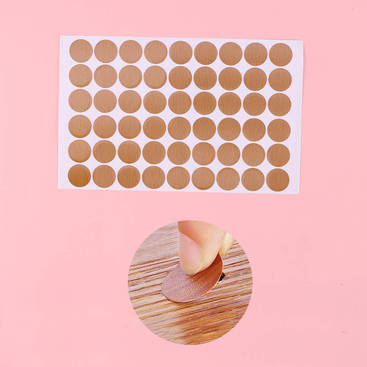 Yardwe La Cubierta del Orificio del Tornillo del PVC 54pcs Tapa la Etiqueta autoadhesiva del Agujero del Tornillo para los Muebles de Oficina en casa