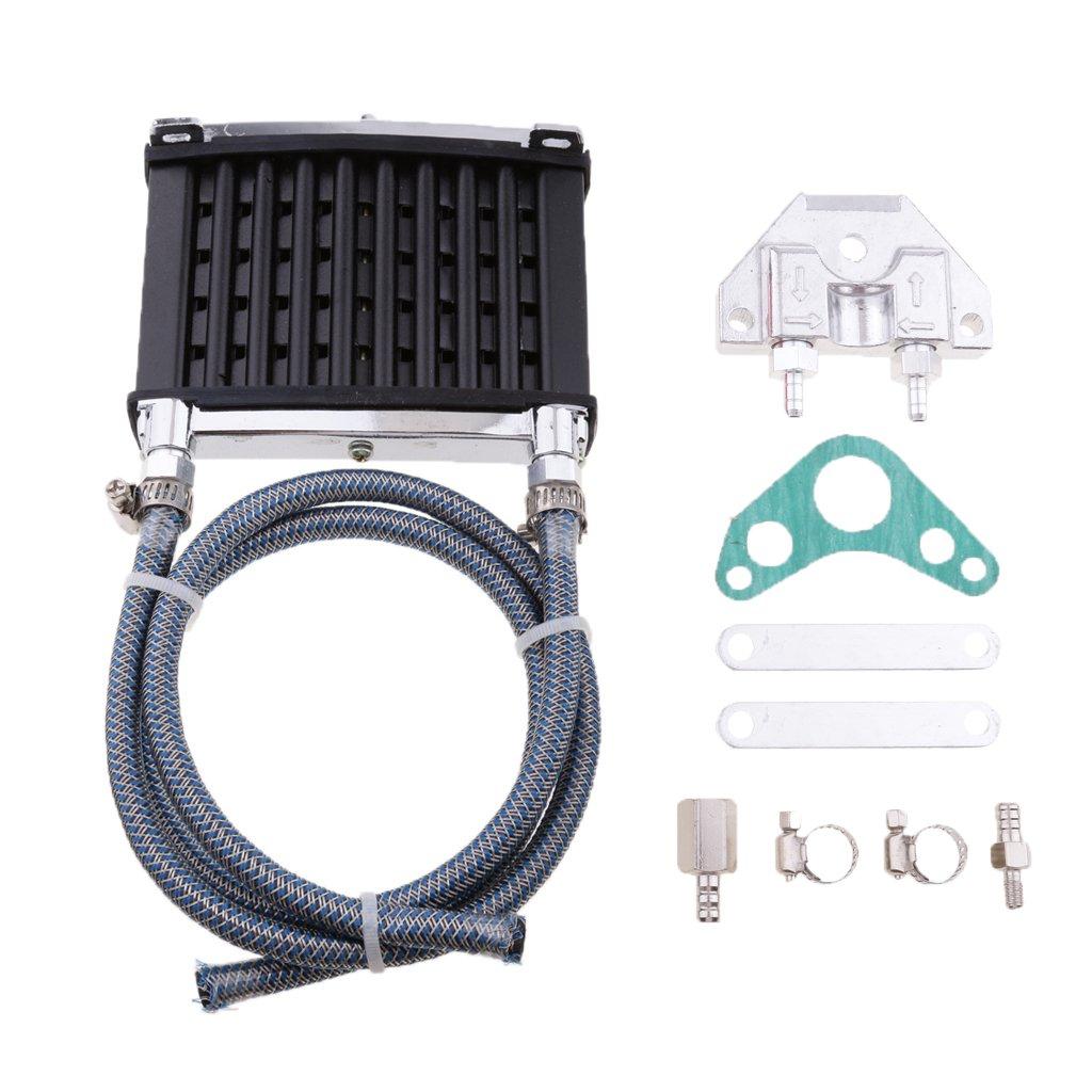 Jili Online Motorcycle Oil Cooler Radiator Cooling For ATV 50cc 70cc 90cc 110cc 125cc - Black