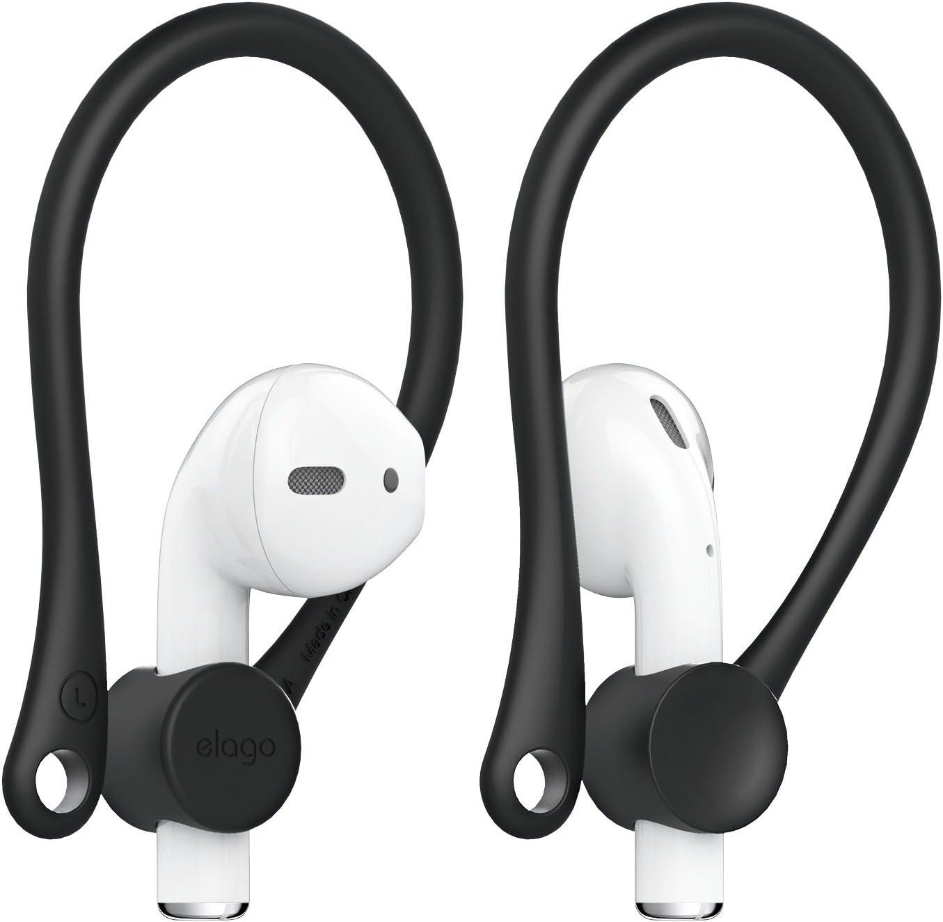 Elago Earhooks Kompatibel Mit Apple Airpods Pro Airpods 2 1 Perfekt Für Outdoor Aktivitäten Dauerhafter Komfort Schwarz Elektronik