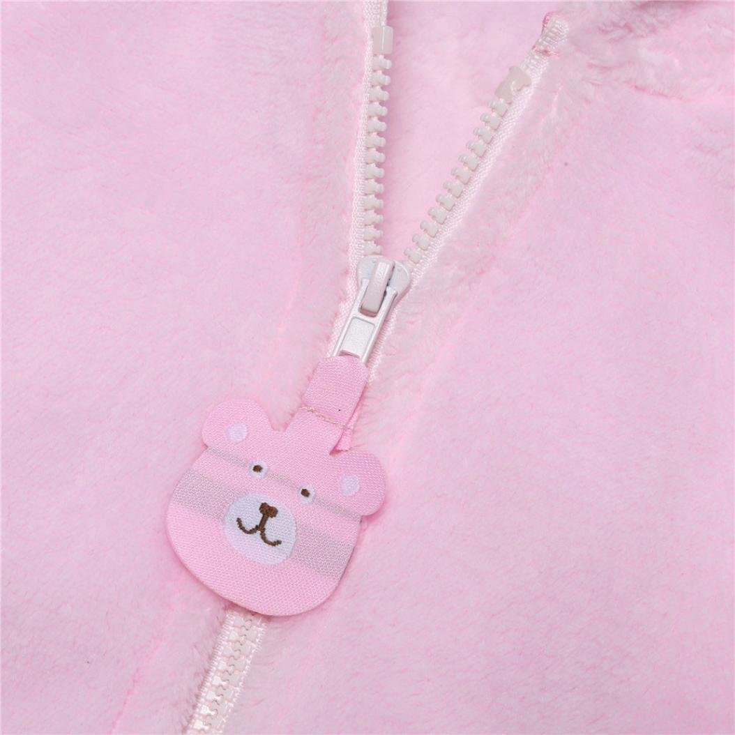 LNGRY Baby Infant Kids Boys Girls Solid Cartoon Hooded Coat Cloak Warm Clothes